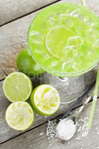 Classic margarita cocktail with salty rim Stock photo © karandaev