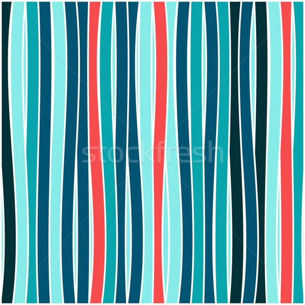 Coloré rayé vague papier texture Photo stock © karandaev