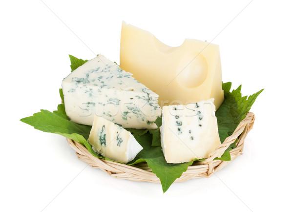 Various types of cheeses Stock photo © karandaev