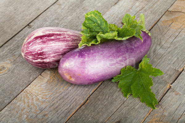 Fresh ripe eggplants Stock photo © karandaev