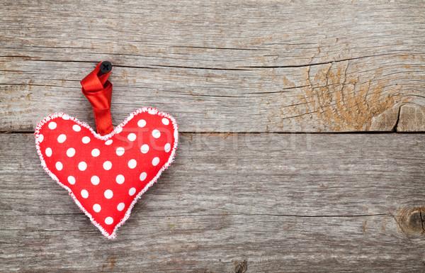 Red Valentine's day heart toy Stock photo © karandaev
