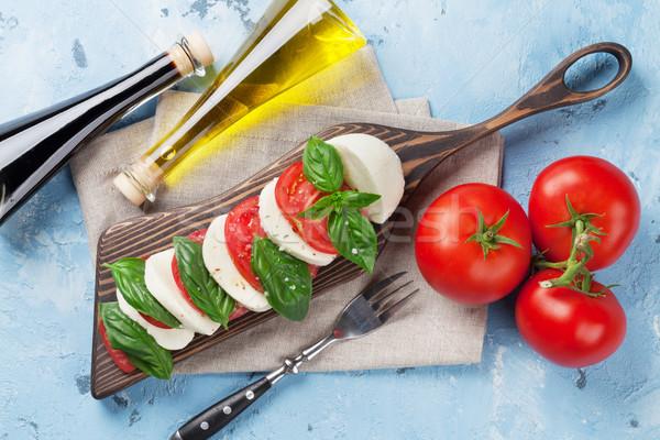 カプレーゼサラダ トマト バジル チーズ ハーブ ストックフォト © karandaev
