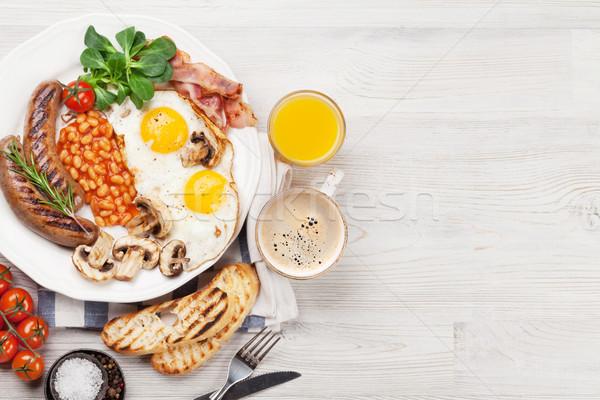 Stok fotoğraf: İngilizce · kahvaltı · yumurta · sosis · domuz · pastırması