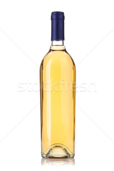 Witte wijn fles geïsoleerd witte wijn bar vintage Stockfoto © karandaev