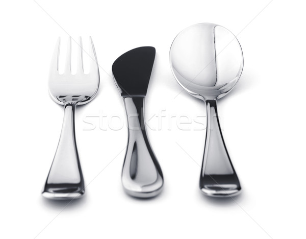 Silverware set - fork, knife, and spoon Stock photo © karandaev
