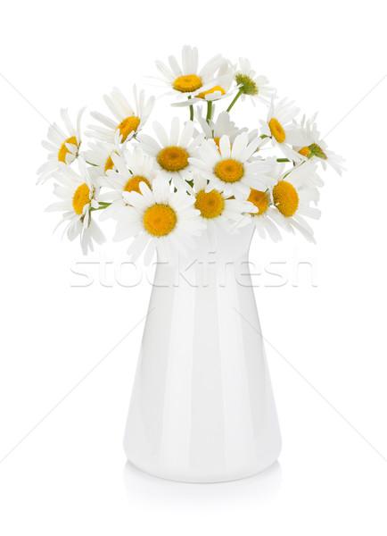 Chamomile bouquet in vase Stock photo © karandaev