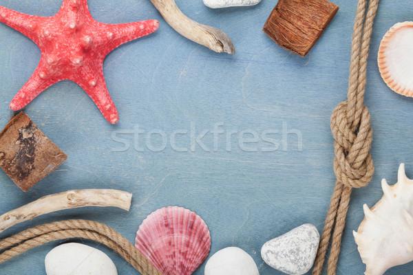Sea travel frame decor Stock photo © karandaev