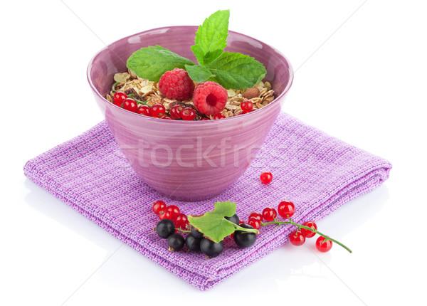 Healty breakfast with muesli and berries Stock photo © karandaev