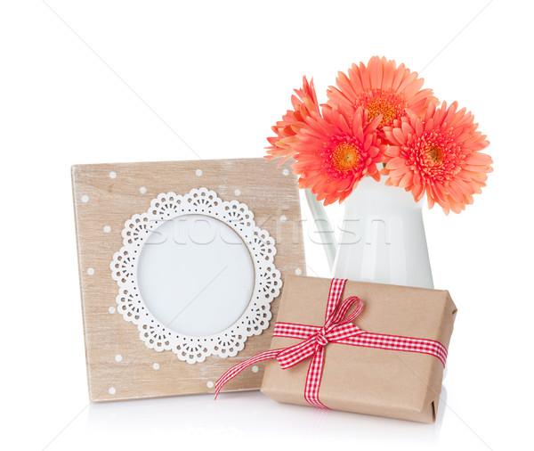 Сток-фото: цветы · шкатулке · изолированный · белый · цветок