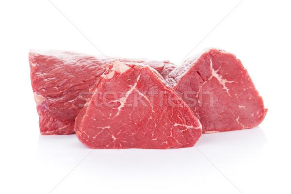 Filet biefstuk rundvlees vlees geïsoleerd witte Stockfoto © karandaev