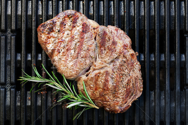 Stock photo: Grilled beef steak with rosemary