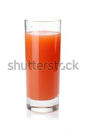 грейпфрут сока стекла изолированный белый лист Сток-фото © karandaev