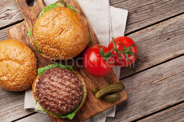 вкусный гриль приготовления говядины томатный Сток-фото © karandaev