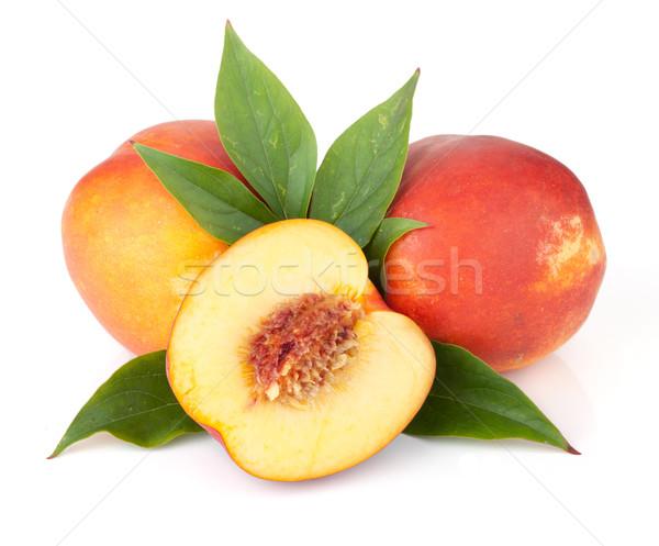 Ripe peach fruits Stock photo © karandaev