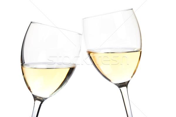 White wine in glasses Stock photo © karandaev