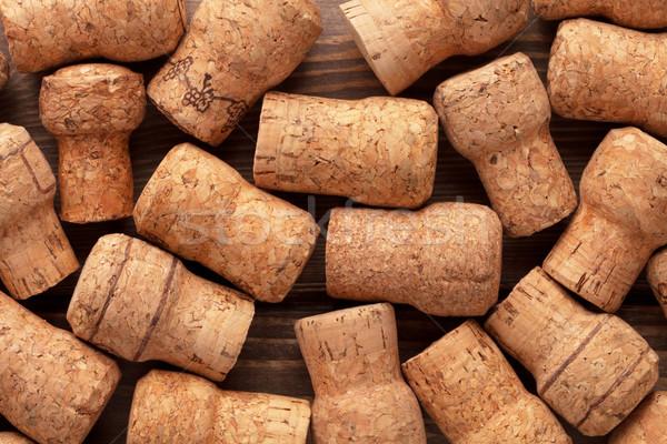 Champagne wijn textuur tabel groep patroon Stockfoto © karandaev