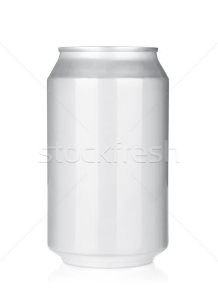 Alumínium sör üdítős doboz izolált fehér étel Stock fotó © karandaev