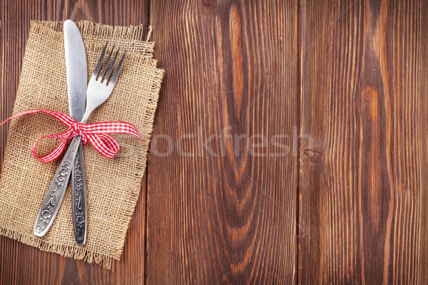Stockfoto: Christmas · houten · voedsel · hout · achtergrond