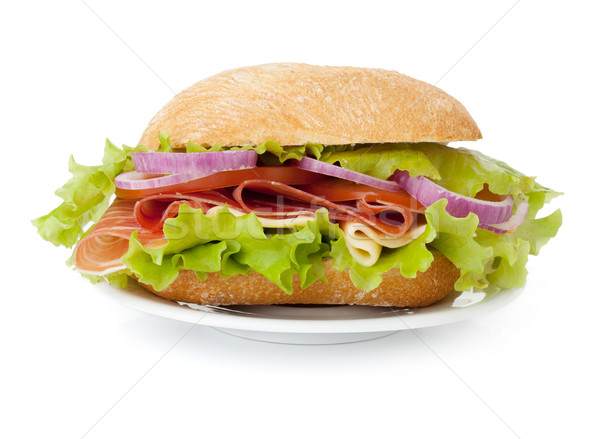 Small sandwich on plate Stock photo © karandaev