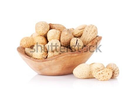 Amendoim nozes tigela isolado branco fundo Foto stock © karandaev