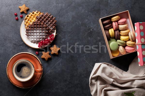 Stockfoto: Koffie · snoep · bessen · top · exemplaar · ruimte