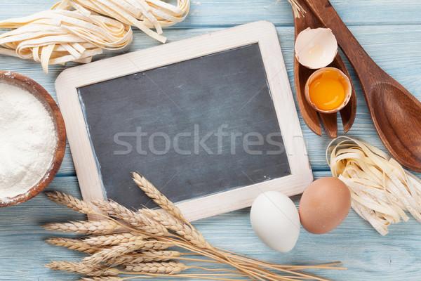 Pasta cooking ingredients Stock photo © karandaev