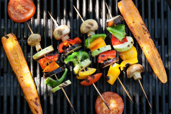 Grillowany warzyw gotowania górę widoku żywności Zdjęcia stock © karandaev