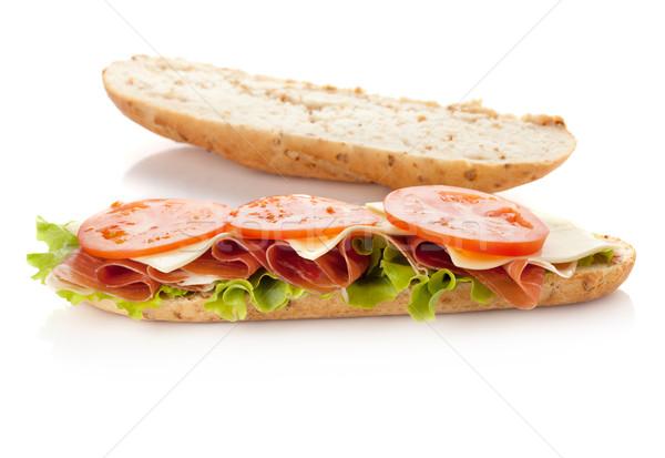 сэндвич подготовка долго изолированный белый другой Сток-фото © karandaev