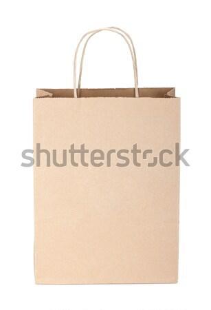 ショッピング 紙袋 孤立した 白 紙 スペース ストックフォト © karandaev