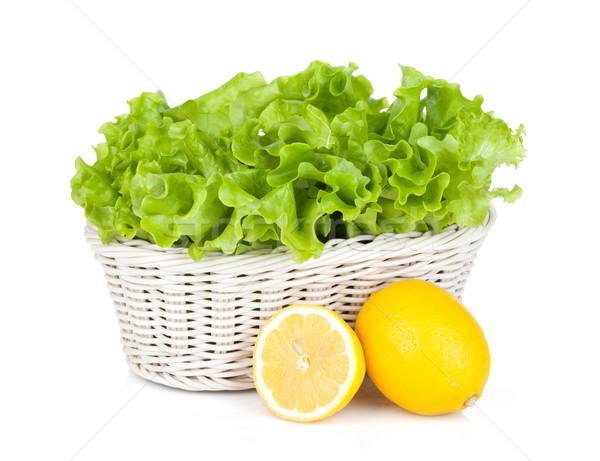 салата корзины лимоны лимона плодов изолированный Сток-фото © karandaev