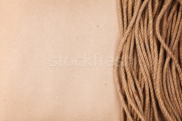 ブラウン 段ボール 紙 海洋 ロープ コピースペース ストックフォト © karandaev