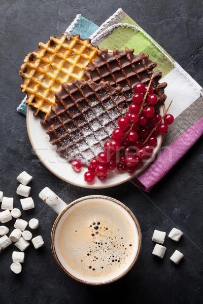 Café bayas superior vista alimentos chocolate Foto stock © karandaev