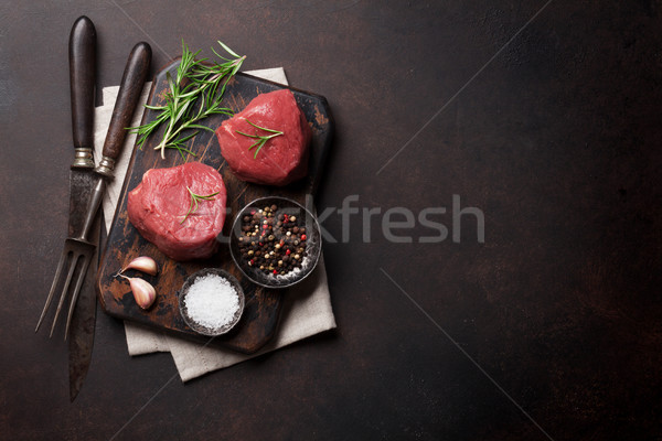Raw fillet steak Stock photo © karandaev