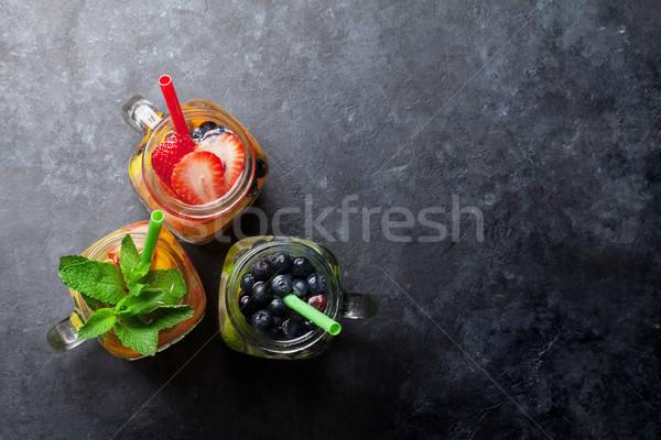 Taze limonata yaz meyve karpuzu kavanoz Stok fotoğraf © karandaev