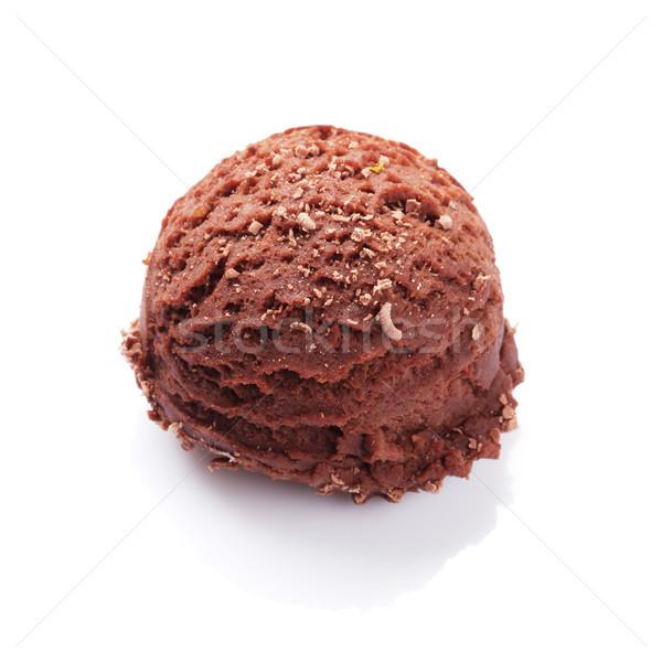 çikolata dondurma kepçe yalıtılmış beyaz yaz Stok fotoğraf © karandaev