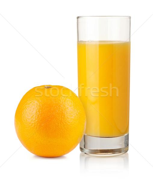 Orange juice in highball glass and orange Stock photo © karandaev