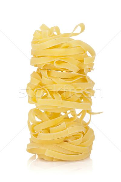 Fettuccine nest pasta Stock photo © karandaev