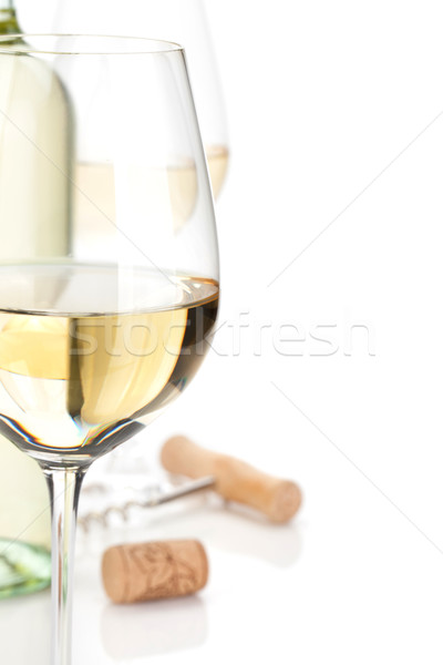 White wine closeup Stock photo © karandaev