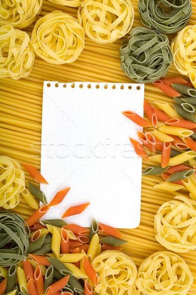 Levélpapír olasz tészta különböző fény levél Stock fotó © karandaev