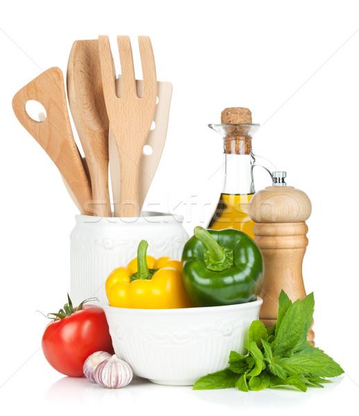 Frescos maduro hortalizas cocina Foto stock © karandaev