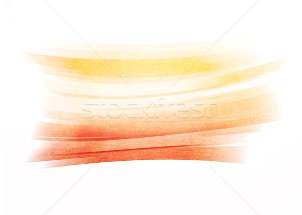 Orange painted brush stroke background Stock photo © karandaev