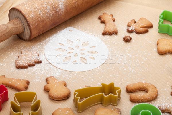 Deegrol peperkoek cookies koken papier home Stockfoto © karandaev