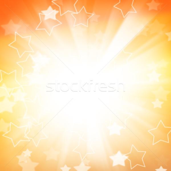 Absztrakt ünnep csillagok boldog nap narancs Stock fotó © karandaev