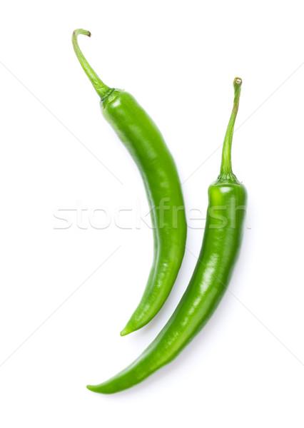 Green chili peppers Stock photo © karandaev