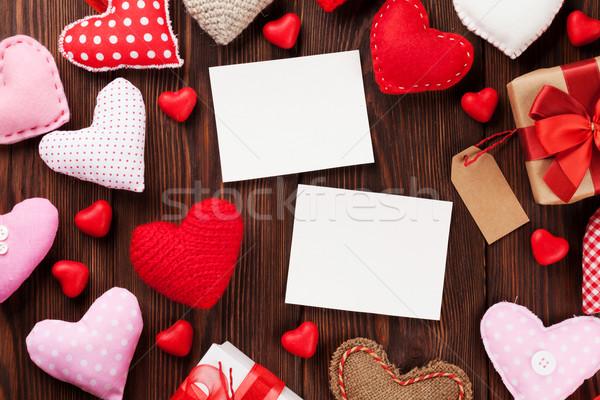 Valentines day photo frames and hearts Stock photo © karandaev