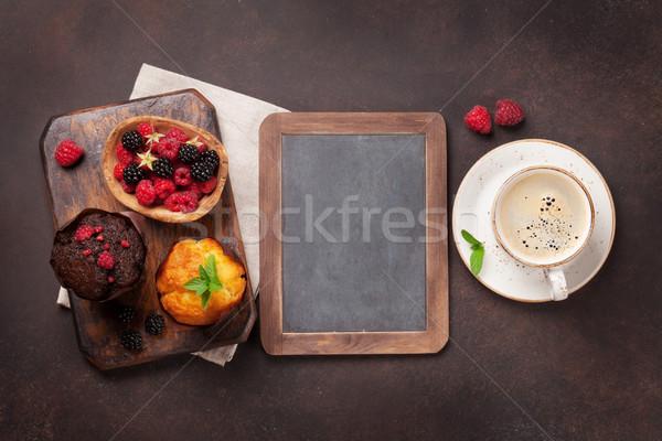 Café topo ver espaço Foto stock © karandaev