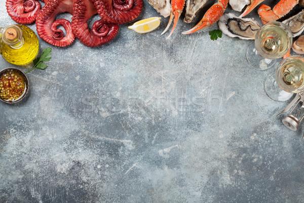 морепродуктов осьминога омаров приготовления Top мнение Сток-фото © karandaev