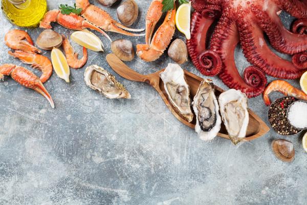 морепродуктов осьминога омаров приготовления Top Сток-фото © karandaev