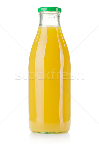 Glass bottle of pineapple juice Stock photo © karandaev