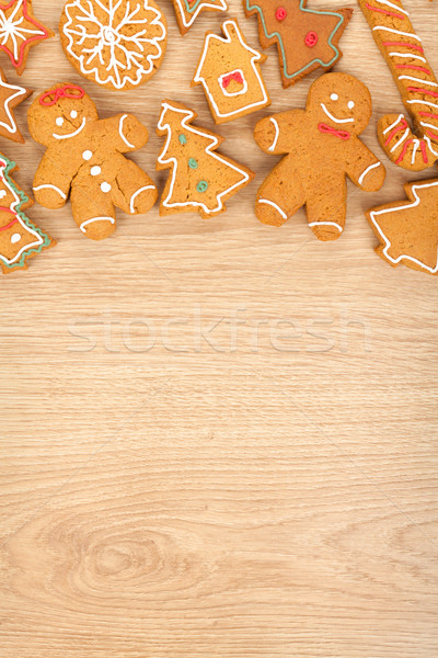 Foto stock: Caseiro · natal · pão · de · especiarias · bolinhos